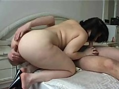 Chubby honey banged in her shaved pussy