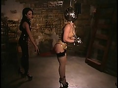 Latex Godess and her Maid recive a new Package