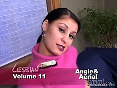 Angie and Ariel undress each other