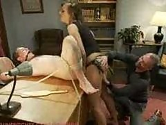 Sadistic wife cuckolds husband with tantric sex specialist.
