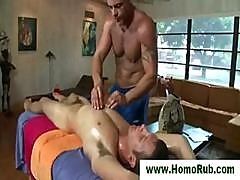 Straight Hunk Sucked During Massage