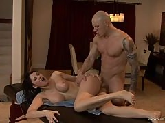 Oiled Up Eva Karera Is Left Breathless After A Hard Fuck From A Stiff Cock