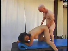 Mature Asian Bitch Rosy Rocket Has Some Fun By The Pool With A Midgets Cock And Toys His Ass