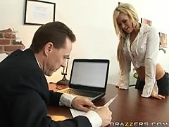 Busty Blonde Crista Moore Fucking Her Boss In The Office For Holidays