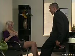 Blonde Babe is Up for Some Hardcore Sex In the Office with a Big Cock