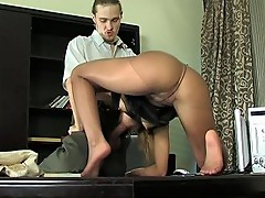 Alice&Mike nylon footfuck action