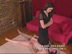 Femdom pantyhose foot and leg worship part4