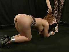 Mistress Katy Parker punishing slavegirl