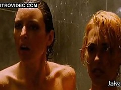 Lola Glaudini and Nadia Kretschmer Totally Naked In The Shower