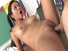 Cute Asian schoolgirl facialized by her horny professor
