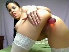 Loses The Whole Dildo In Her Ass!