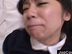 Japanese maid gets facial cumshot after fucking