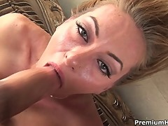 Awesome deep blowjob from Aline