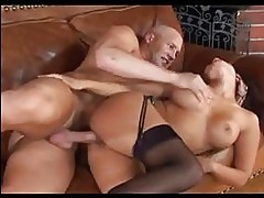 Eva Angelina fingers her hot bush before taking in a thick h...
