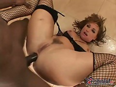 Hard Interracial Anal with Flower Tucci
