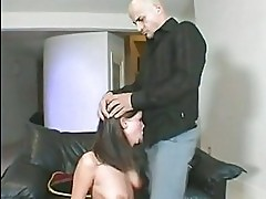 Haley Paige takes a hard cock slapping in her ass upside dow...
