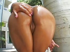 Anal with hot Latina Jasmine Byrne in oil