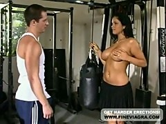 Sexy brunette lanny barbie fucked by the gym instructor