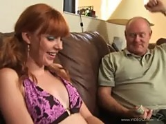 Teen redhead Marie Mccray got two horny o ...