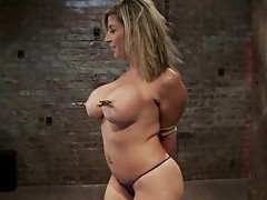 Sara Jay in a tit bondage video