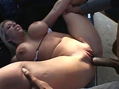Sara jay drilled by the black man