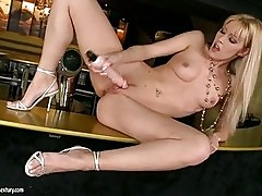Sophie Moone loves her toy in her like a real fat cock makin...