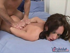 Taylor Rain in pink boots fucked on bed