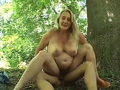 Mature BBW Fucked in the Woods