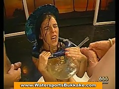 Watersports goldenshower orgy