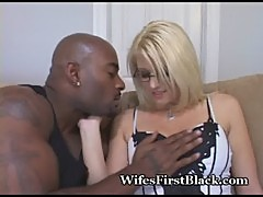 Cute Blonde Wifey Takes Black Lover