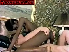 Classic interracial threesome