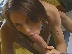 Brunette Peggy likes anal