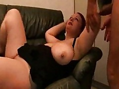 German fat woman with big tits fisting and fucking