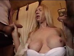Mature French woman fucked in her bathroom