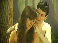 Outdoor forest funny sex scene