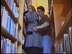 Russian girl in Library