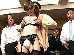 Rika Sugisaki gets teased by several guys who want some pussy