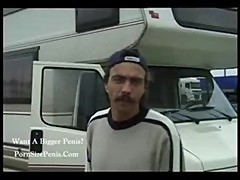 White trash Germans fucking in an RV.......