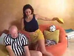 Mature woman persia makes a deal with a grandpa